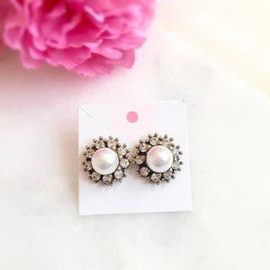 NWT Pearl Stud Earrings